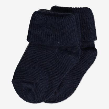 2-pack enfärgade strumpor nyfödd mörk marinblå
