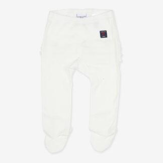 Byxor vita nyfödd vit