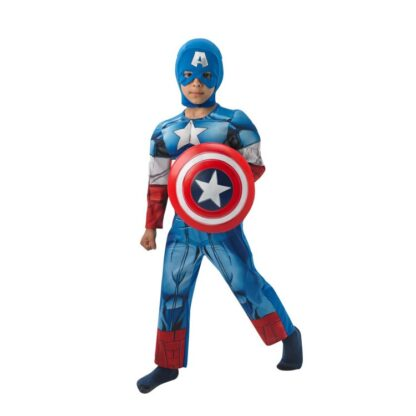 Captain America Maskeraddräkt Deluxe Barn