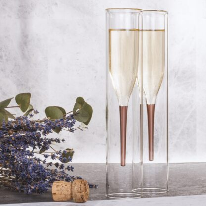 Champagneglas Inside Out 2-pack