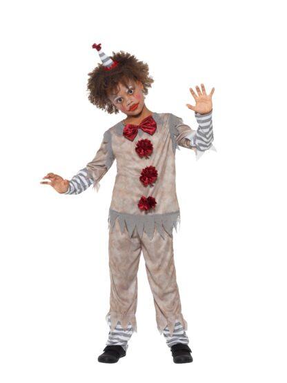 Clown Vintage Maskeraddräkt Barn, SMALL