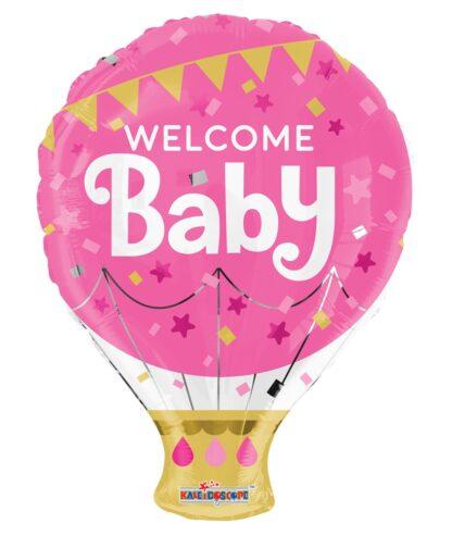 Folieballong Welcome Baby, Rosa
