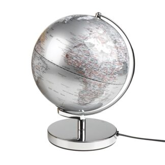 Jordglob Lampa Silver