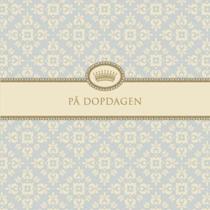 """Kort """"På Dopdagen""""(ljusblå)"""