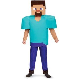 Minecraft Steve Deluxe Maskeraddräkt Barn