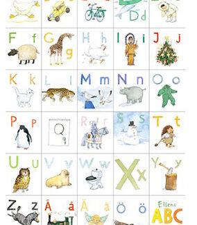 Affisch Klassiskt alfabet